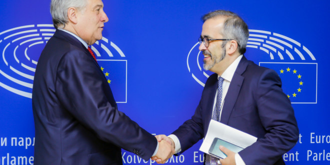 Antonio TAJANI, EP President meets with Paulo RANGEL and José Manuel FERNANDES